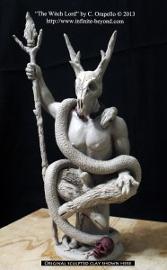 """The Witch Lord"" by Christopher Orapello. Original clay shown here."